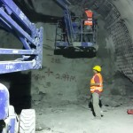 Stage 5 – excavation while providing shotcrete support