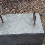 -	Cast foundation with anchoring bolts ready for assembly
